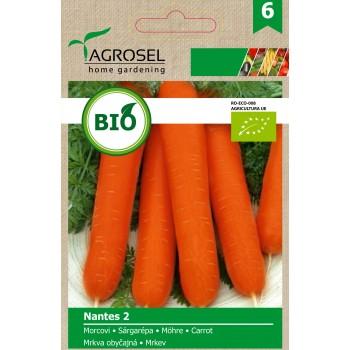 Био семена за моркови Нантес