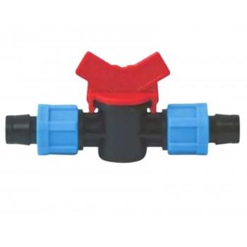 Съединителен кран за капков лентов маркуч ф17мм