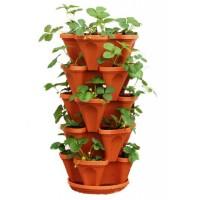 Саксия (кула) за отглеждане на ягоди (комплект)