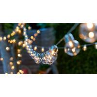 Соларнa LED лампa за градина (комплект - 10бр. крушки) / топла бяла светлина